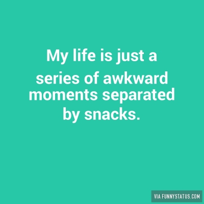 My life is just a series of awkward moments separated ...
