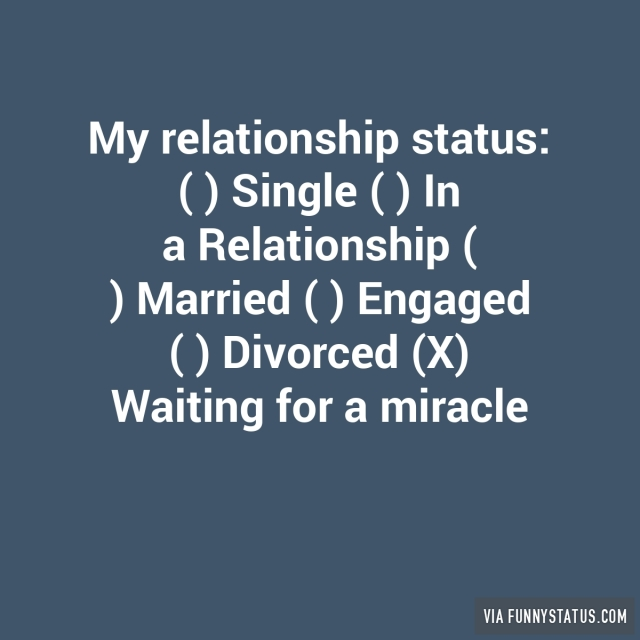 my relationship status doesnt show stability