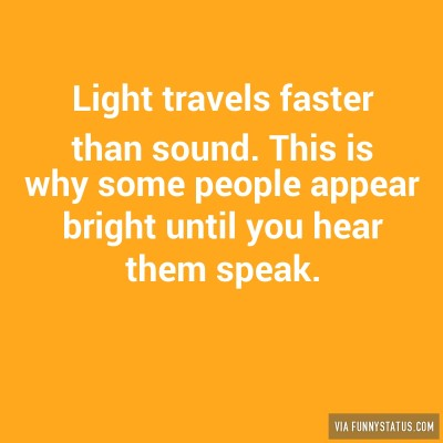 does light travel faster than sound