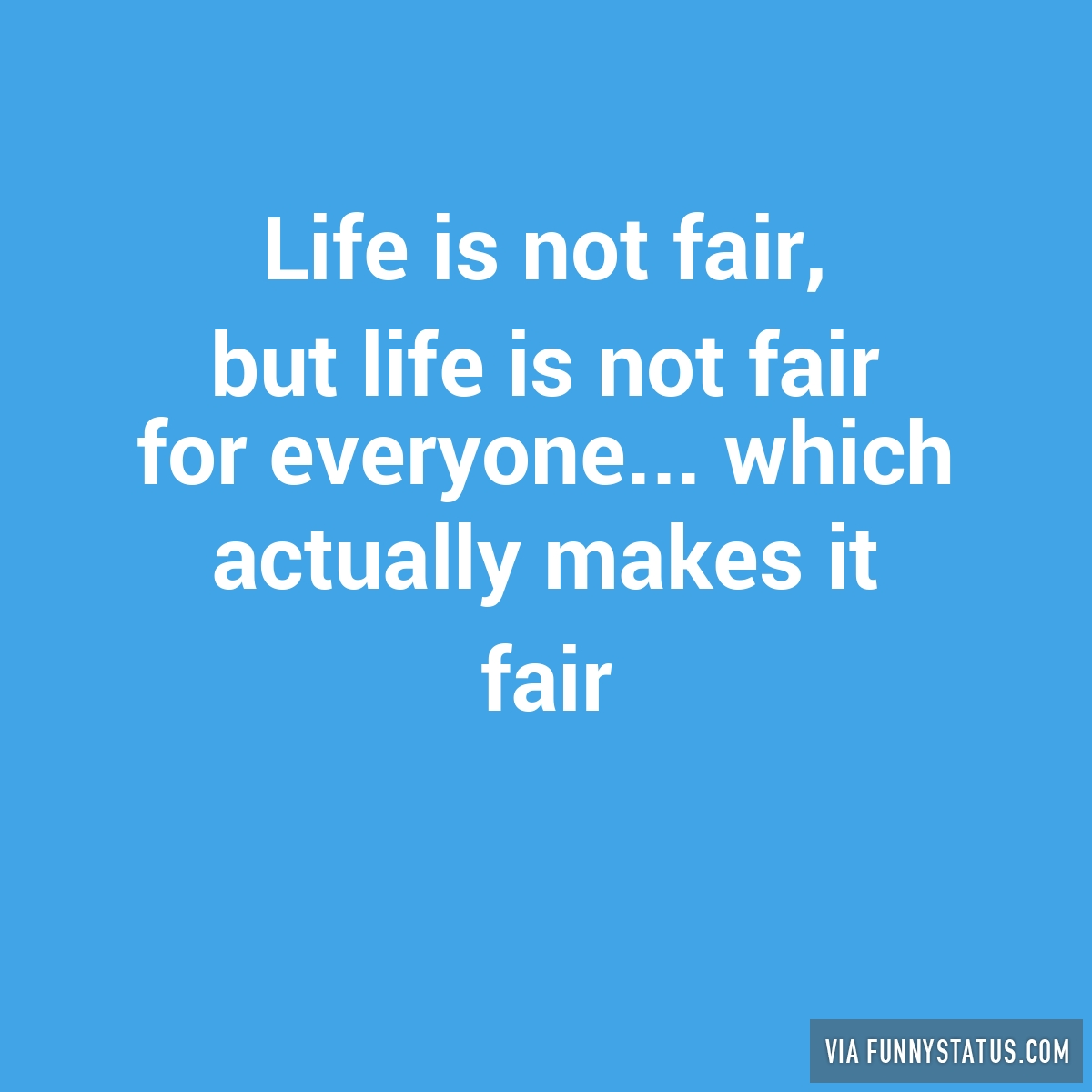 life is not fair quotes images
