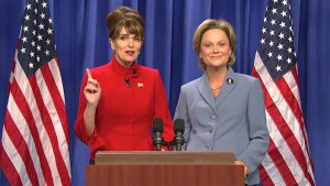 Sarah Palin and Hillary Clinton Tina Fey and Amy Poehler
