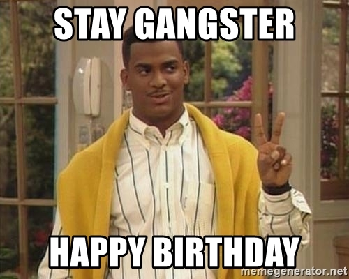 Carlton greeting happy birthday meme